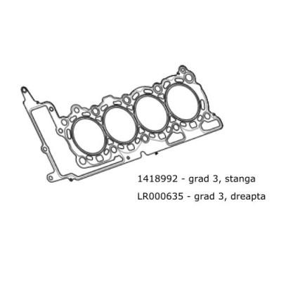 Garnitura chiulasa dreapta 3.6 L diesel RR L322 si Sport LR000635