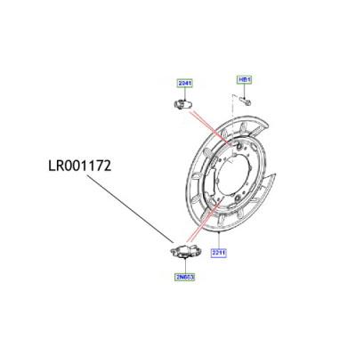 Levier disc frana mana Freelander LR001172