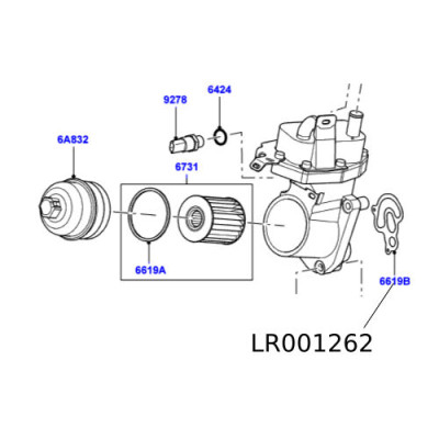 Garnitura bloc filtru ulei Freelander 2 diesel LR001262