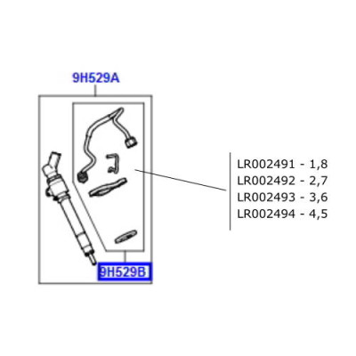 Kit reparatie injector 2 sau 7 Range Rover motor 3600cc V8 diesel LR002492