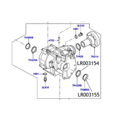 Simering diferential Freelander 2 LR003154