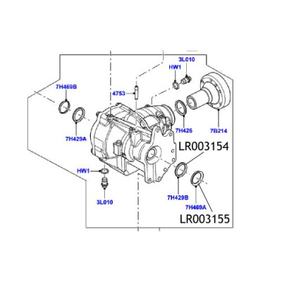 Simering diferential Freelander 2 LR003155