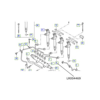 Conducta injector LR Defender Puma TD4 2400cc LR004469