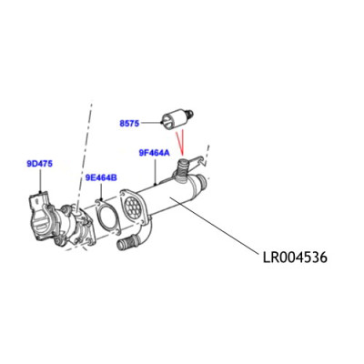 Racitor EGR Land Rover Discovery Range Rover LR004536