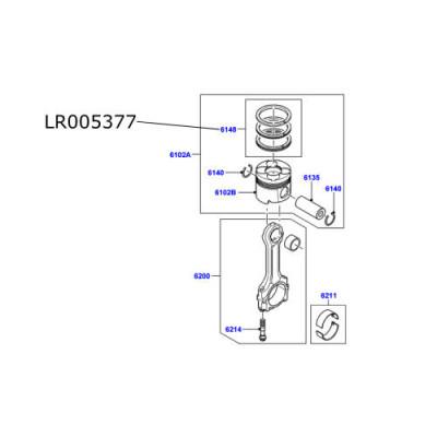 Set segmenti pentru 1 piston LR Freelander 2 diesel 2200cc LR005377