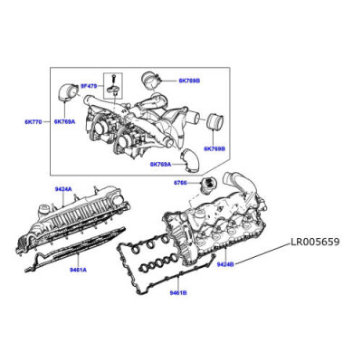 Galerie admisie stanga motor 3600cc TdV8 Range Rover LR005659