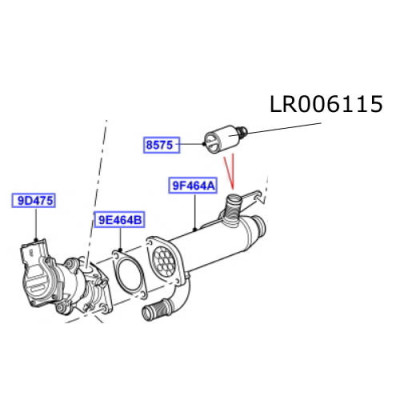 Termostat EGR LR Discovery 3 si 4 Range Rover L322 si Sport LR006115