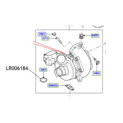 Oring ulei turbina Discovery Range Rover LR006184
