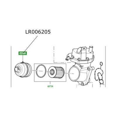 Capac filtru ulei motor 2200 diesel Freelander 2 Discovery Sport Range Rover Evoque LR006205