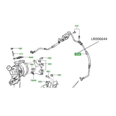 Conducta ulei turbina motor 3600 diesel Range Rover L322 LR006644