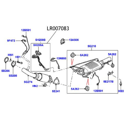 Senzor presiune DPF Freelander 2 LR007083 LR008463