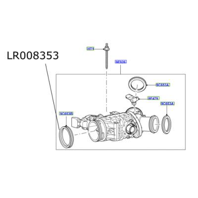 Garnitura corp admisie Discovery 3 si 4 Range Rover Sport LR008353