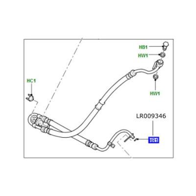 Oring conducta servodirectie LR Discovery 3 Freelander 2 Range Rover Sport LR009346
