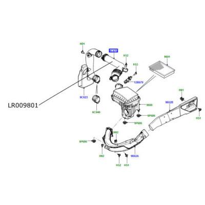 Furtun filtru aer LR Freelander 2 2200cc diesel LR009801