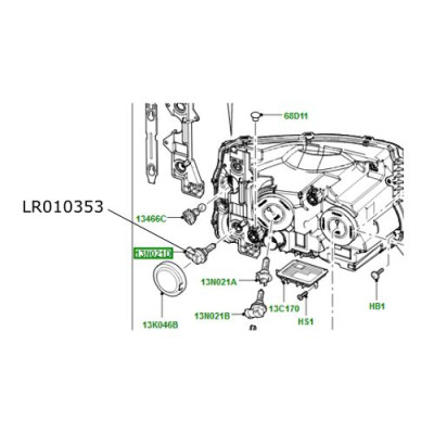 Bec cornering H8 LR Discovery 4 Range Rover Sport LR010353