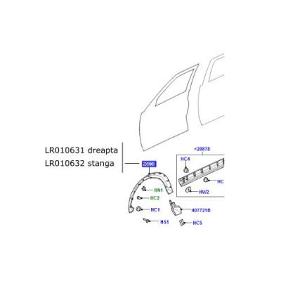 Bandou aripa fata dreapta LR Discovery 3 si 4 LR010631