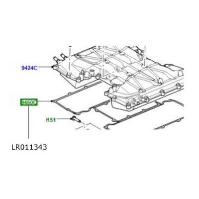 Garnitura admisie intercooler motor 5000cc benzina Range Rover LR011343