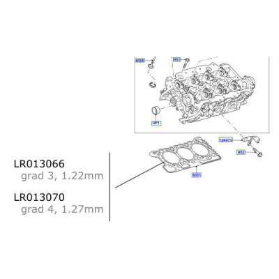 Garnitura chiulasa 1.27mm Discovery 4  Range Rover  LR013070