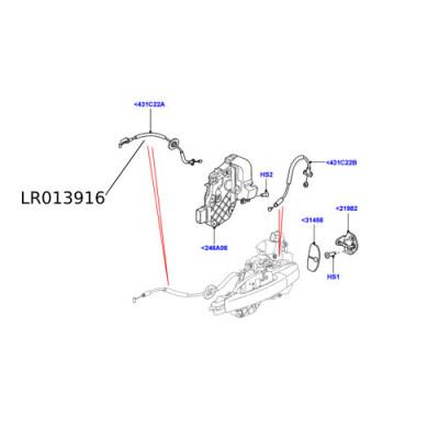 Cablu broasca usa Discovery 4  LR013916