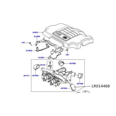Furtun galerie admisie Range Rover LR014468
