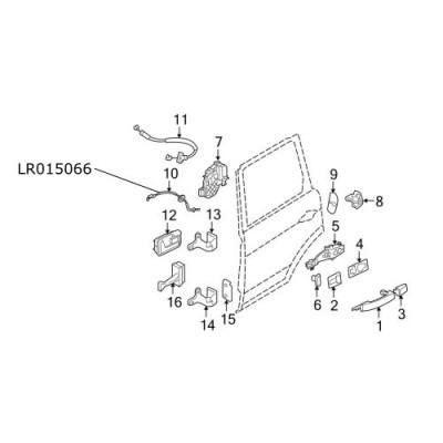 Cablu interior usa laterala spate Range Rover Sport LR015066