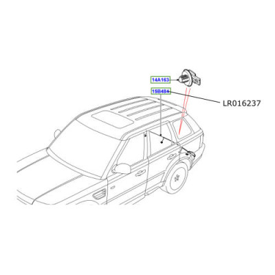 Cablaj senzori parcare spate Range Rover Sport LR016237