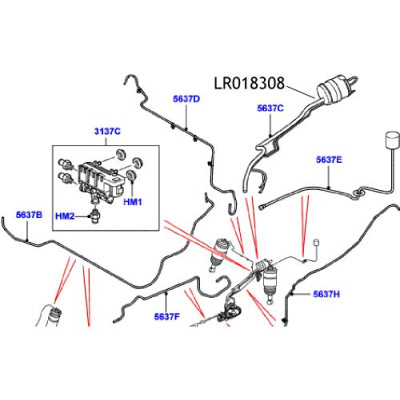 Reductor zgomot compresor suspensie Range Rover Discovery LR018308