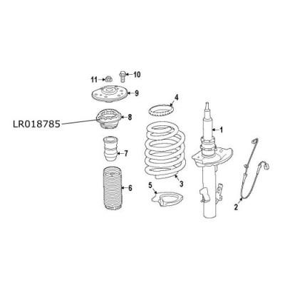 Rulment sarcina amortizor fata Range Rover Evoque Freelander 2 LR018785