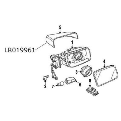 Capac oglinda dreapta Range Rover Sport si L322 Freelander 2 Discovery 4  LR019961