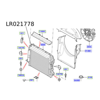 Radiator apa motor Discovery 3 Range Rover Sport PCC500610 LR021778