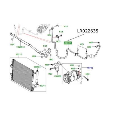 Conducta compresor Aer Conditionat Range Rover L322 4.4 V8 diesel LR022635