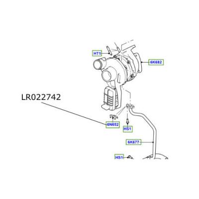 Garnitura conducta turbina motor 4400cc Range Rover L322 si L405 LR022742