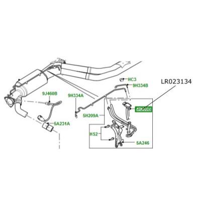Senzor DPF Range Rover L322 motor 4400cc V8 diesel LR023134