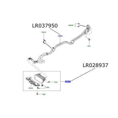Conducta racitor ulei cutie automata Range Rover L322 3000cc 4400cc diesel LR037950