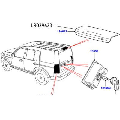 Lampa stop hayon Discovery 3&4 XFG000062 LR029623