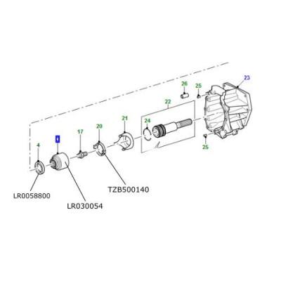 Flansa cutie transfer Land Rover Defender de la 2007 LR030054
