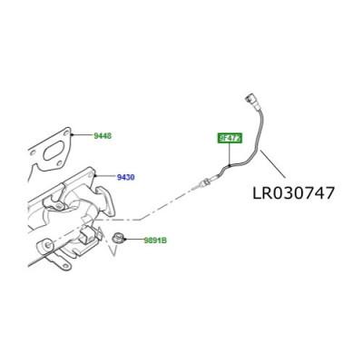 Senzor temperatura galerie evacuare 2200cc diesel Freelander 2 Discovery Sport RR Evoque LR030747