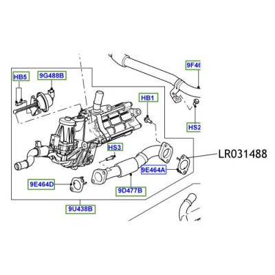 Garnitura conducta EGR Discovery Range Rover LR031488
