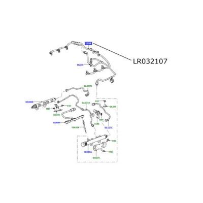 Conducta retur injectoare motor 3000cc diesel Discovery 4 si 5 Range Rover Sport L405 si Velar LR032107