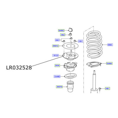 Flansa amortizor Freelander 2  Range Rover Evoque LR032528 LR085485
