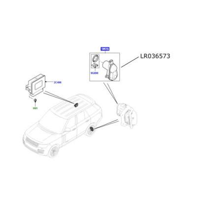 Actuator frana de mana Range Rover L405 LR036573