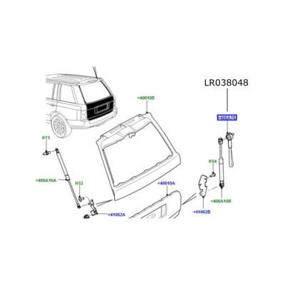 Cablu hayon dreapta Range Rover L322 LR038048