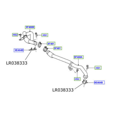 Garnitura conducta EGR Discovery 4 Range Rover Sport si L405 LR038333