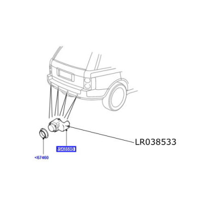 Senzor parcare fata spate Land Rover Discovery 4 Range Rover L322 L405 Sport si Evoque LR011602 LR038533