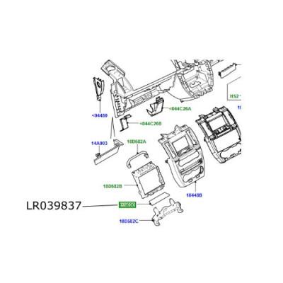 Ornament consola centrala bord Land Rover Freelander 2 LR039837