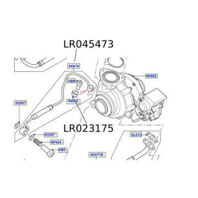 Garnitura conducta ulei turbina Discovery Sport Range Rover Evoque Freelander2  LR045473