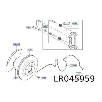 Senzor placute frana fata Range Rover L405 LR045959