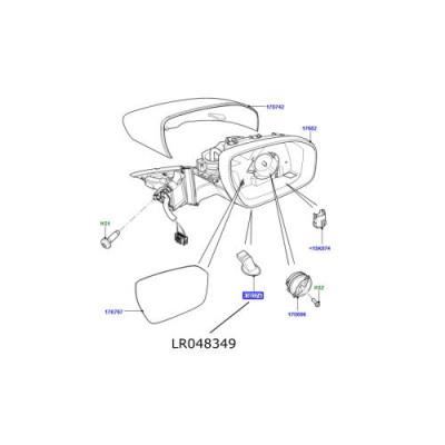 Lampa de apropiere oglinda dreapta Range Rover Evoque LR048349
