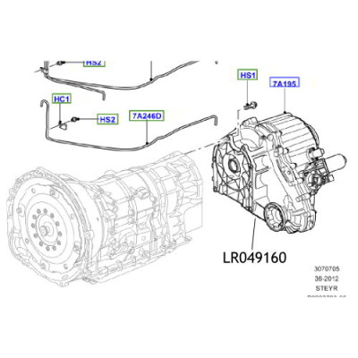 Cutie transfer Land Rover Discovery 4 Range Rover L405 si Sport LR049160