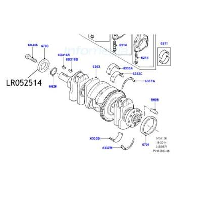 Simering palier fata Freelander 2 LR052514